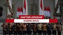 Daftar Lengkap Kabinet Indonesia Maju