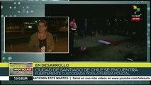 teleSUR Noticias: Fuerte represión contra chilenos no cesa