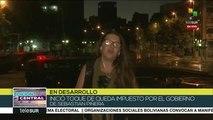 Chilenos protestan con canciones de Los Prisioneros y Víctor Jara
