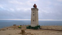 Denmark just moved an entire lighthouse on wheels