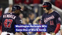 Washington Nationals Take Game 1