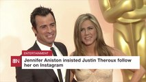 Jennifer Aniston Gets Celebrity Instagram Followers