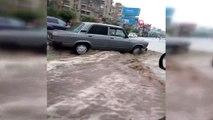 - Kahire'de şiddetli yağışlar nedeniyle havalimanını su bastı