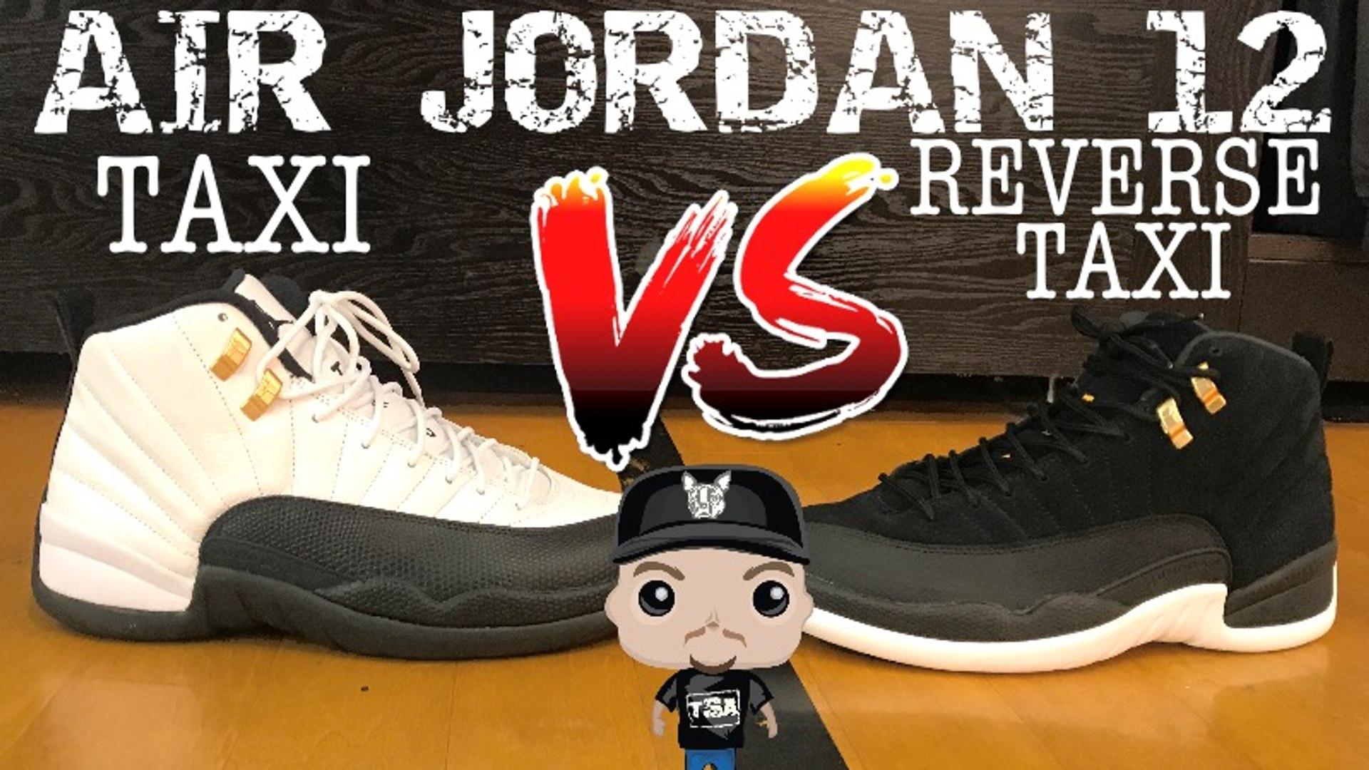 Air Jordan 12 Reverse Taxi Vs Og Retro Sneaker On Feet Review