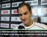 """Bâle - Federer : """"Content de la façon dont j'ai joué"""""""