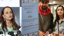 Alia Bhatt's mother Soni Razdan reacts on Alia & Ranbir's viral wedding invitation   FilmiBeat
