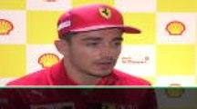 """Ferrari - Leclerc : """"Je suis toujours très exigeant envers moi-même"""""""