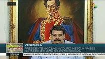 Llama Venezuela a países del mundo a rechazar golpismo en Bolivia