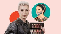 James Charles Halloween Rainbow Skull Face Makeup Challenge!