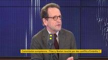 """Candidature de Thierry Breton menacée par une plainte d'Anticor : """"Ça ne peut pas fonctionner comme ça"""", estime Gilles Le Gendre, président du groupe LREM à l'Assemblée nationale"""