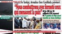 Le Titrologue du 25 Octobre 2019 : Amadou Gon prévient, «Nous combattrons avec fermeté ceux qui menacent la paix»