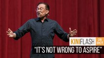 Anwar: People can dream but PM transition process unshakeable | Kiniflash - 25 Oct