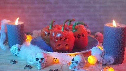 Recette d'Halloween : Poivrons monstrueux