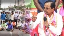 TSRTC Samme : రిపోర్టర్లను ఓ ఆట ఆడుకున్న KCR || Oneindia Telugu