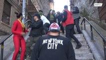 Movie fans flock to 'Joker Stairs'