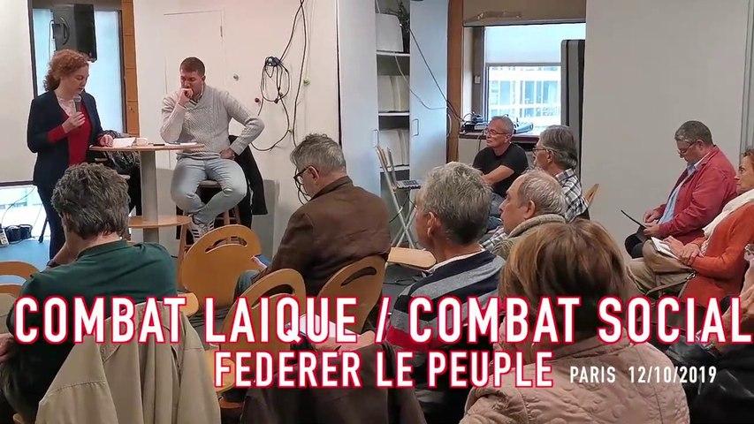 Combat Laique-Combat social : Fédérer le Peuple !