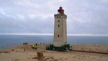 الدنمارك: تحريك منارة بحرية مسافة 70 متر !!!