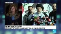 FRANCE 24 reports from Baghdad: 'al-Sadr supporters waiting for instructions whether to join protest'
