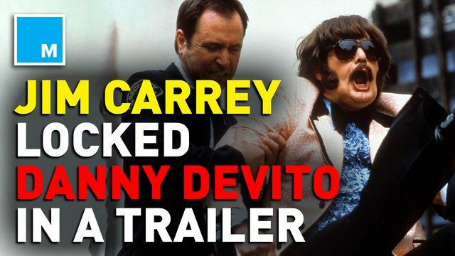 Jim Carrey locked Danny DeVito in a trailer on the set of 'Man on the Moon'