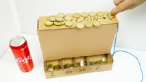 DIY Coin Sorting Machine from Cardboard Coca cola
