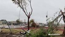 Surveying the tornado damage