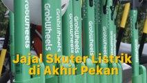 Menjajal Skuter Listrik Grab Wheels di Jakarta