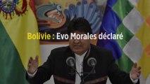Bolivie : Evo Morales déclaré vainqueur au premier tour