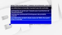 Normandie Logistique, l'entreprise voisine de Lubrizol, a commis des infractions, selon un rapport de la Direction régionale de l'environnement