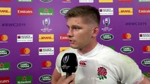 Owen Farrell interviewed after his England team defeated New Zealand