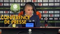 Conférence de presse FC Lorient - ESTAC Troyes (0-1) : Christophe PELISSIER (FCL) - Laurent BATLLES (ESTAC) - 2019/2020