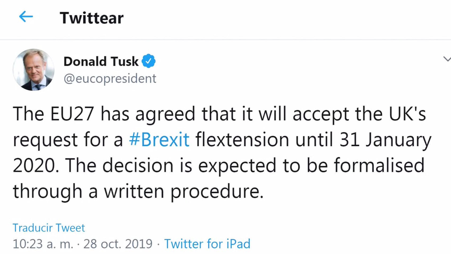 Tusk avanza un acuerdo para retrasar el