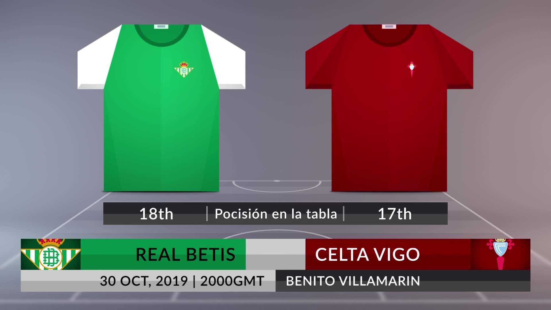 Match Preview: Real Betis vs Celta Vigo on 30/10/2019