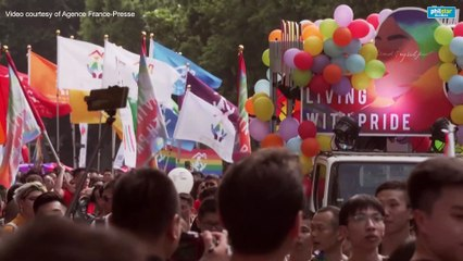 Taiwan revels in first pride since legalizing gay marriage