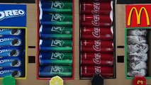 How to Make OREO Sprite Coca Cola and McDonald's Vending Machine