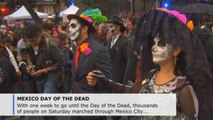 Elaborate Catrinas parade ahead of Mexico's Day of the Dead
