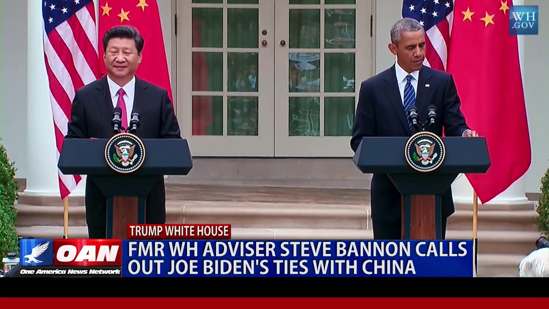 2019 APR 26 Former White House adviser Steven Bannon calls out Joe Biden's ties with China
