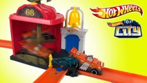 Hot Wheels City Downtown Fire Station Spinout    Keith's Toy Box