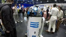 Malfunction! Hilarious moment man in R2D2 costume falls over at Comic Con
