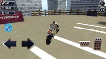 Stunt Bike Roof Driving - Mid Air Ramp City - Stunts Motor games - Android GamePlay FHD