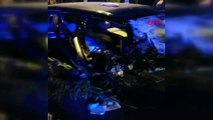 İstanbul-kartal'da makas attığı iddia edilen sürücü kaza yaptı
