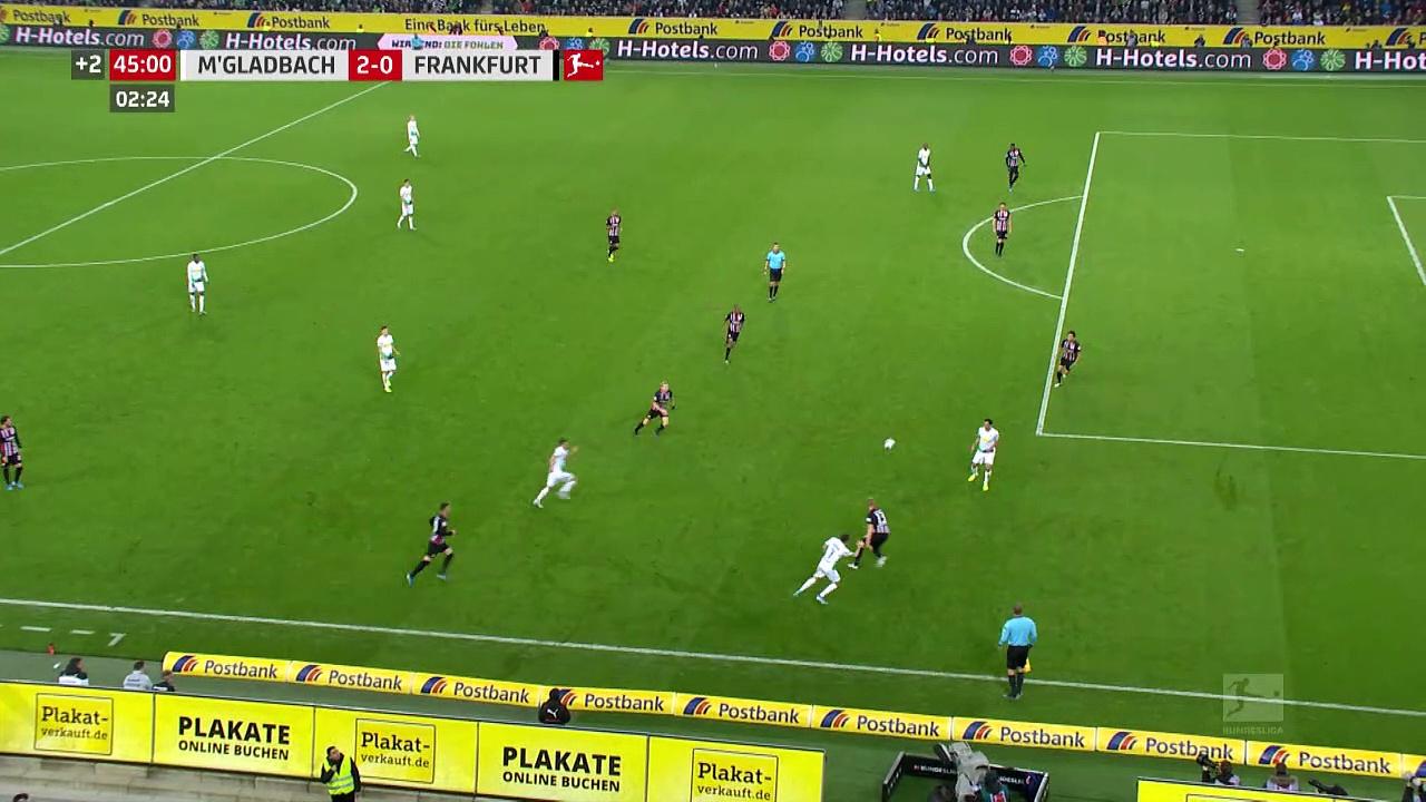 9. Hafta / Borussia Mönchengladbach - Eintracht Frankfurt: 4-2 (Özet)