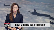 Two U.S. B-52 strategic bombers conduct mission over East Sea, sending message to N. Korea, China and Russia