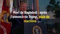 Mort de Baghdadi : après l'annonce de Trump, pluie de réactions