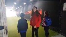Entrée des joueurs de l'US Chauny sur la pelouse du Stade de France