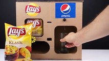 DIY How to Make LAY'S Chips and Pepsi Coca cola Vending Machine
