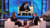 Jennifer Aniston, Ellen DeGeneres seal friendship with a kiss