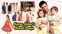 Karan Johar's Diwali Pooja | Varun , Sara , Janhvi and others attend
