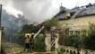 Une maison détruite par un incendie dans le centre-ville de Dinan