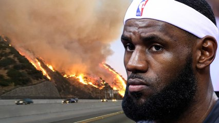 Lebron James FORCED To Evacuate Home After LA Wildfires THREATEN To Burn His Mansion