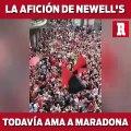 Aficionados de Newell's demuestran su amor por Maradona